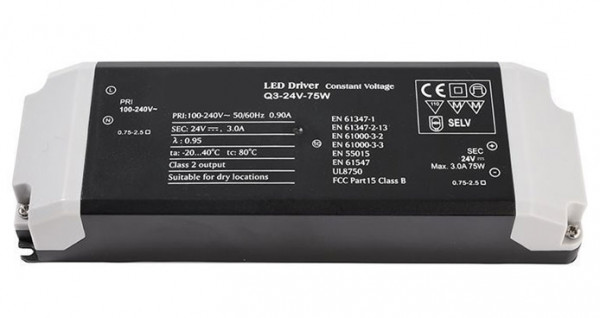 24V LED converter with constant output voltage, not dimmable
