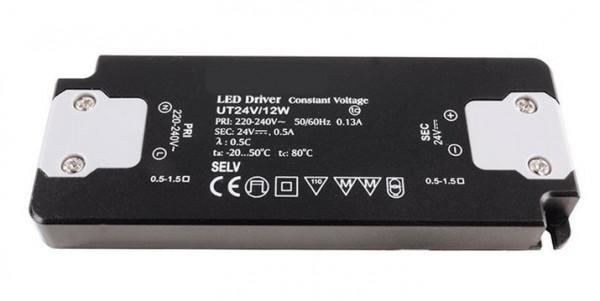 12V LED-Konverter mit konstanter Ausgangsspannung, nicht dimmbar, flache Bauweise