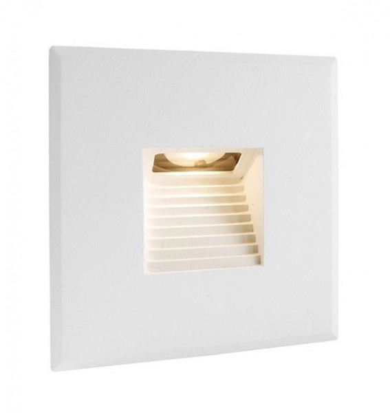 LED wall recessed luminaire surface white - here the version with square frame, square light emission