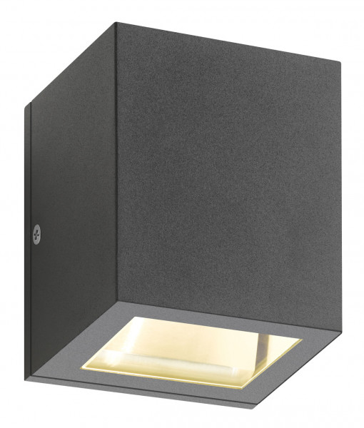 Facade spotlight, anthracite, double-sided for interchangeable retrofit lamps