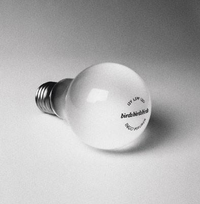 12V LED-Glühbirne als Ersatzteil für die BIRD-Leuchten von Ingo Maurer