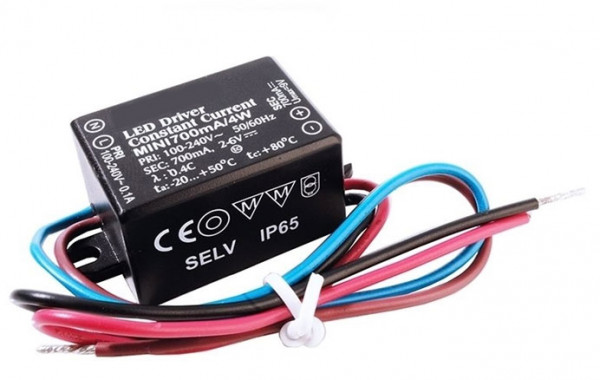 LED converter 700mA, 4W, not dimmable
