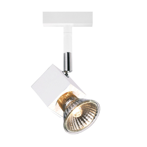 Spotlight SCOBO for the 230V track system DUOLARE from Bruck - here the variant in surface white