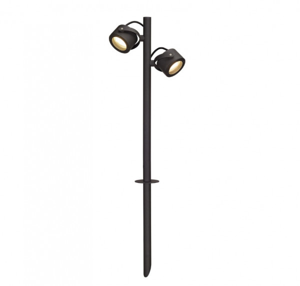 Aluminum spotlight in anthracite surface for interchangeable LED lamps