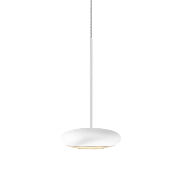 Pendant lamp Blop for the 230V track system DUOLARE from Bruck - here the variant in surface white
