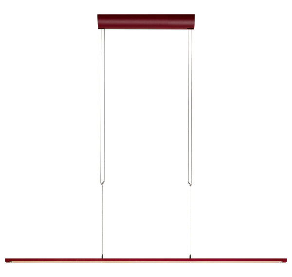 LED Pendelleuchte LISGO SKY STRAIGHT von Oligo - hier die Variante in Oberfläche Rot matt