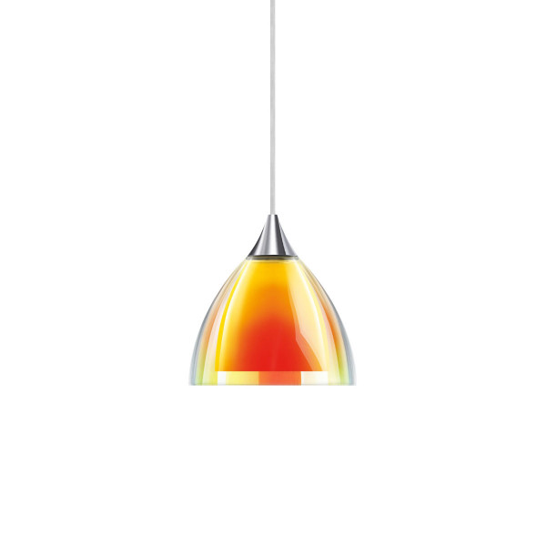 Pendant luminaire SILVA for the 230V track system DUOLARE from Bruck - here the variant with surface chrome