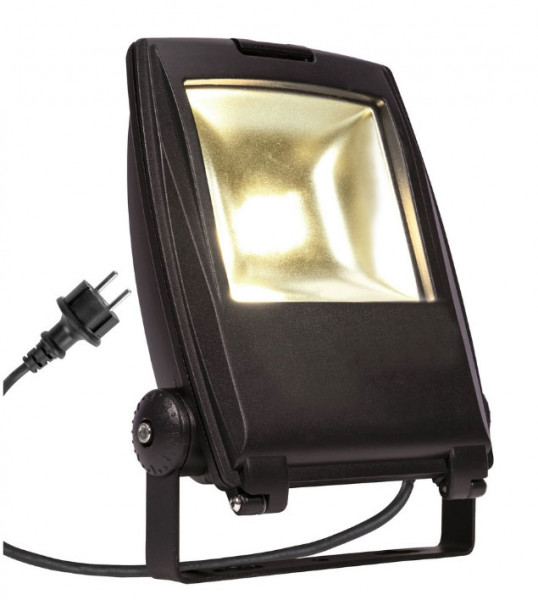 LED Objekt- oder Pflanzenstrahler in Oberfläche schwarz mit 2m Zuleitungskabel und Stecker