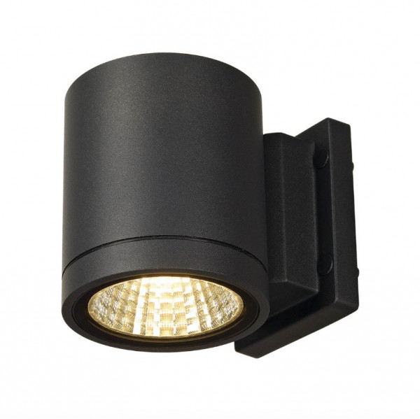Very bright LED facade spotlight in anthracite surface, emitting on one side with 900lm