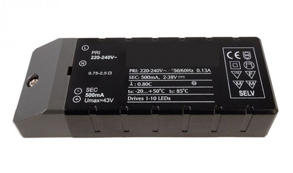 LED converter 500mA, 18W, not dimmable