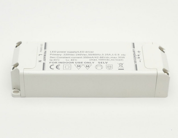 LED converter 350mA, not dimmable, 30W
