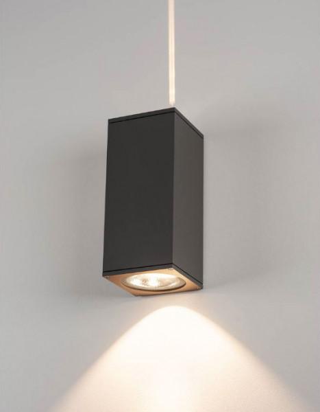LED Fassadenstrahler mit doppelseitiger Abstrahlung 1x sehr schmal und 1x breit (Fassadenpfeil) in Oberfläche anthrazit
