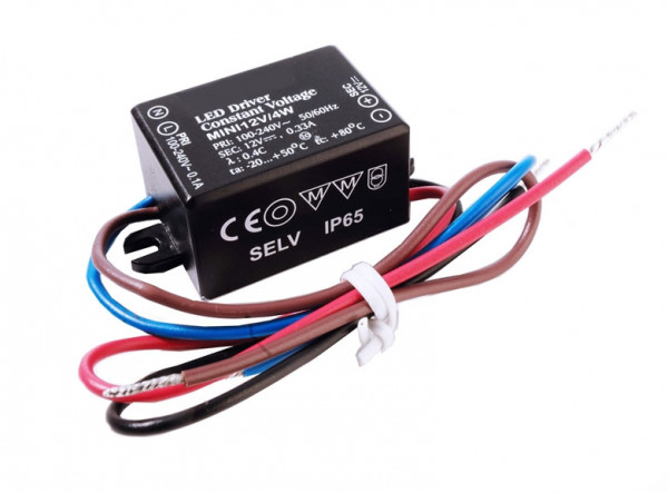 12V LED converter with constant output voltage, not dimmable, splashproof