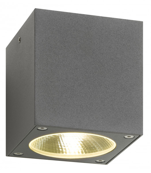 LED ceiling light for outside for use under a canopy, above the terrace or in the bathroom