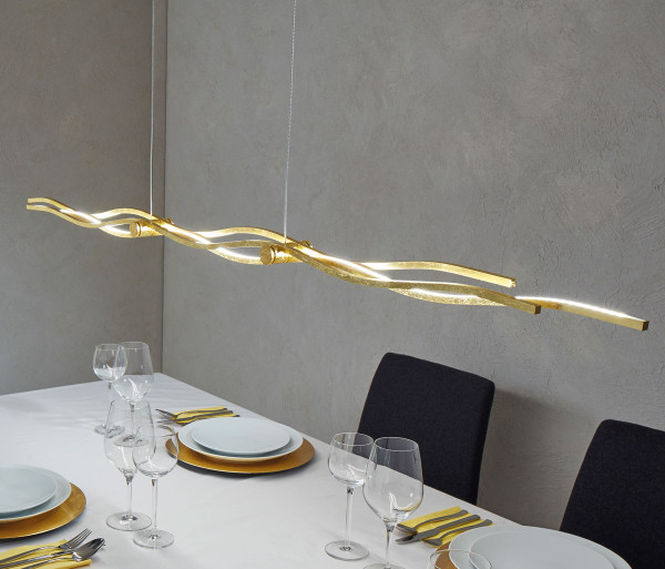 LED pendant light SILK from Escale - here the variant in surface gold leaf