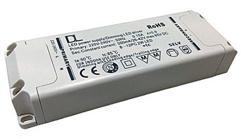 LED converter 350mA, 25W, dimmable (example photo)