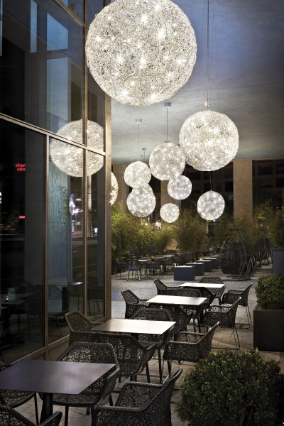 Pendant light Fil de Fer Outdoor by Catellani & Smith sample application